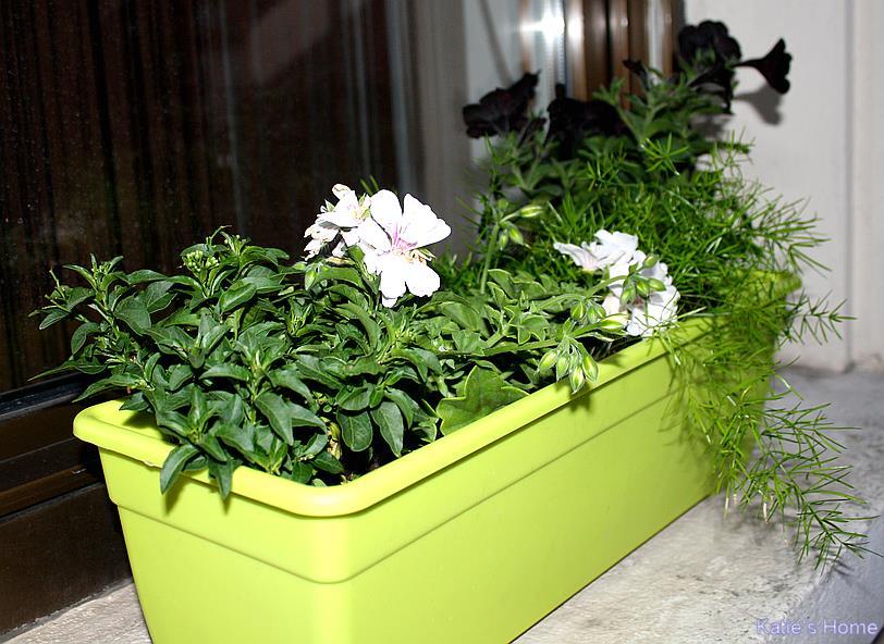 Katie 39 s home for Support jardiniere pour fenetre